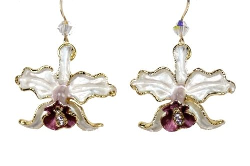 Orchid earrings white petals