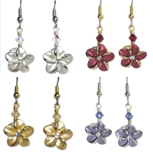 Classic Plumeria Earrings