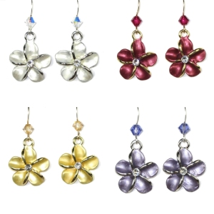 Larger Plumeria Earrings