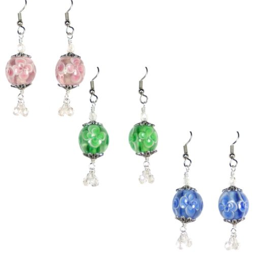 Flower Bubble Dangle Earrings