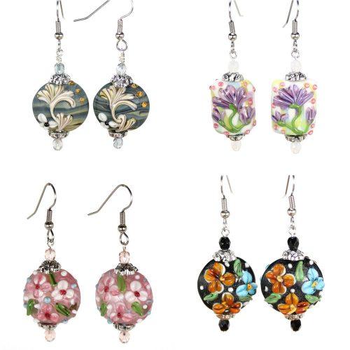 Flower Coin Earrings