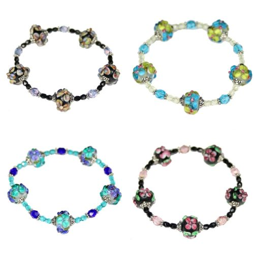 Flower Rondelle Bracelets