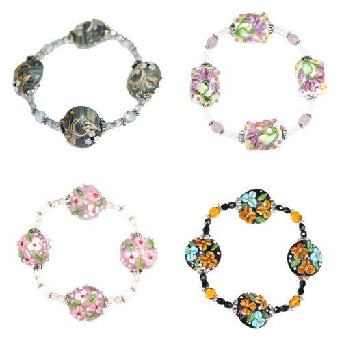 Flower Coin Bracelets